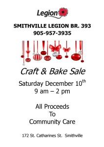 Smithville Legion Br. 393 • Craft & Bake Sale @ Smithville Legion Branch 393 | Smithville | Ontario | Canada